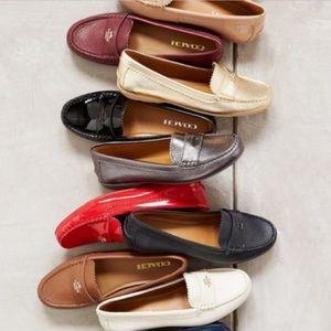 Coach Sz 9.5 'Odette' Moccasin Loafer Pink Patent